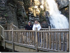 Mike and Kathy by the falls